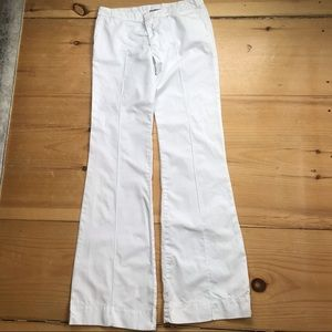 James Perse 100% cotton flat front flare pants
